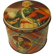 Vintage Colorful Tartan Biscuit Tin John O'Groats Huntley & Palmers