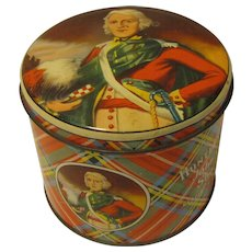 Vintage Colorful Tartan Biscuit Tin John O'Groats Huntley & Palmers