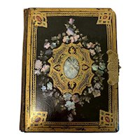 Gorgeous Victorian Papier Mache Covered Photograph Album