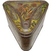 Antique CA 1893 Huntley & Palmers Triangular shaped Tin, VILLAGE