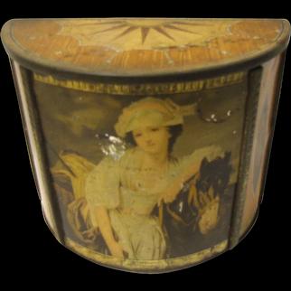 Vintage 1936 British Biscuit Tin MILKMAID Carr's
