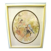 Lovely Framed Barbara Walden Bird Print
