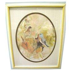 Lovely Framed Barbara Walden Bird Print