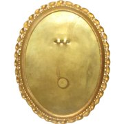 Lovely Vintage Oval Photograph Frame, Brass, Table-Top