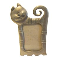 Collectible Pewter Table-Top Photograph Frame, Cheshire Cat