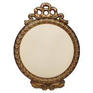 Vintage Small Round Table-Top Frame, French Bow