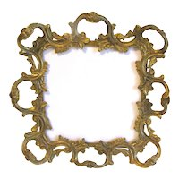 Vintage Heavy Gold Tone Ornate Table-Top Frame