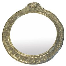 Vintage Filigree Round Frame, Photograph or Mirror