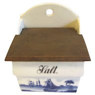 Vintage Blue Delft Salt Box Renate Made in Germany