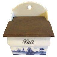 Vintage Blue Delft Salt Box Renate Made in Germany