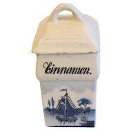 Vintage Delft Spice Jar, CINNAMON, Made in Germany