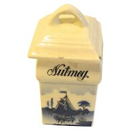 Vintage Delft Spice NUTMEG, Made in Germany