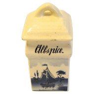 Vintage Delft Spice Jar, ALLSPICE, Made in Germany