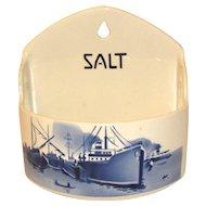 Blue White Delft Salt Box Czechoslovakia Yvonne