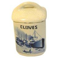 Delft CLOVES Spice Jar (Canister)  w/Lid Czechoslovakia Yvonne