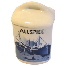 Delft ALLSPICE Spice Jar (Canister) w/Lid Czechoslovakia Yvonne