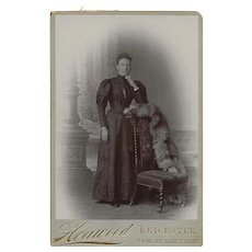 Cabinet Card Photograph of Woman, Full Length