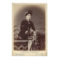 Cabinet Card Photograph of Woman in Victorian dress