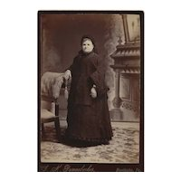 Cabinet Card Photograph of Older Woman Nun Habit