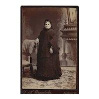 Cabinet Card Photograph of Older Woman Nun Habit