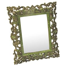 Lovely Vintage Tabletop Photograph Frame, Beaded & Enameled