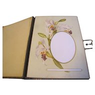 Gorgeous Leather Victorian Photo Album Flowers & Orchids Germany