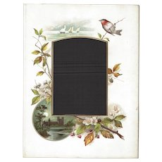 Page from Victorian Photo Album, Aesthetic Movement Colored Mat