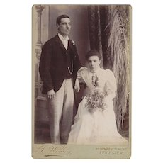 Cabinet Photograph Card, Wedding Couple