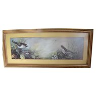 Lovely Vintage Bird Print, Nest of Eggs