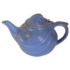 Vintage Hall Teapot, Blue w/Gilded Decoration, Hook Lid, Parade
