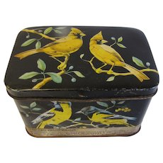 Small Candy Tin with Yellow Birds, Horner
