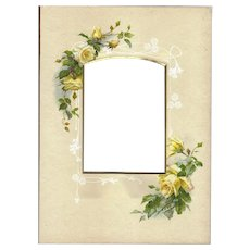White Roses Surround the Opening of this Victorian Album Page Photo Opening