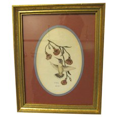 Lovely Framed Decorative Print of a Hummingbird by Don Kent