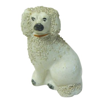 Small 19th Century Staffordshire Dog, Poodle