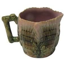 Antique Majolica Pitcher, Etruscan, Seashell