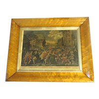 Antique Copper Engraving by William Hogarth, MARCH TO FINCHLEY