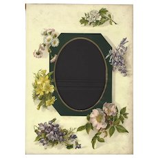 Lovely Page from Victorian Photograph Album, Flowers