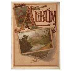 Wonderful Title Page from Victorian Photograph Album CA 1884