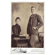 Cabinet Card Photograph of A Young Couple