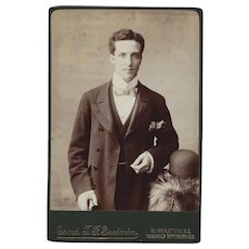 Cabinet Photograph Card of a Gentleman with Formal Dress