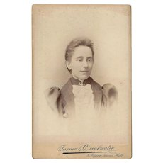 Cabinet Photograph Card with Woman in Classical Dress