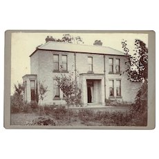 Cabinet Card with Photograph of a House