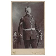 Cabinet Photograph Card of Gentleman in a Military Uniform