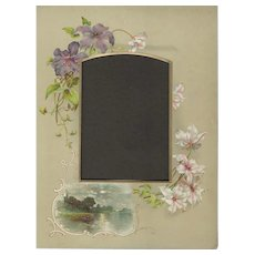 Lovely Aesthetic Movement Decorated Page, Victorian Photo Album