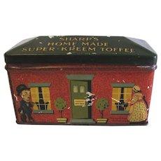 Vintage British Toffee Tin, SHARP'S Home Made Super-Kreem Toffee