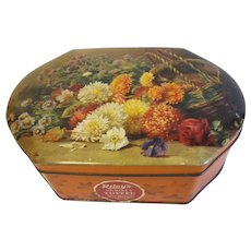 Vintage English Toffee Tin Riley's, Flowers