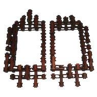 Tramp Art - Crown of Thorns, Pair of Frames