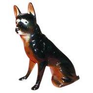 High Gloss Ceramic Dog, German Shepherd