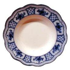 Gorgeous Flow Blue Soup Plate MELBOURNE Grindley