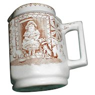 Brown Transferware Child's Cream Pitcher, Allerton, Mae and Pets